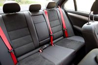 2013 Mercedes-Benz C250 Sport rear seats