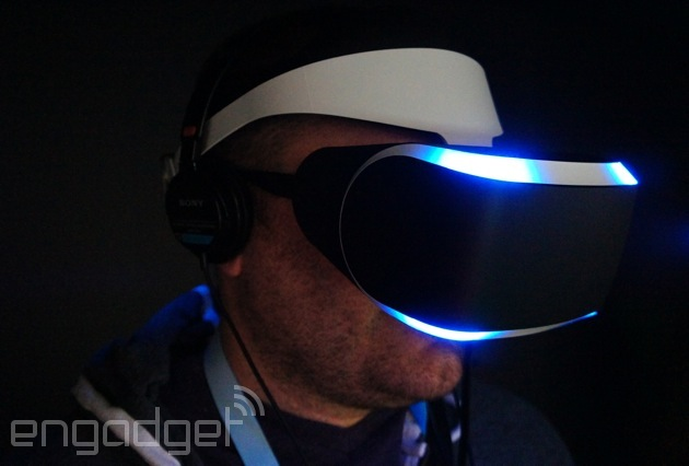 Using the PlayStation 4's virtual reality headset, Project Morpheus (update: now with video!)