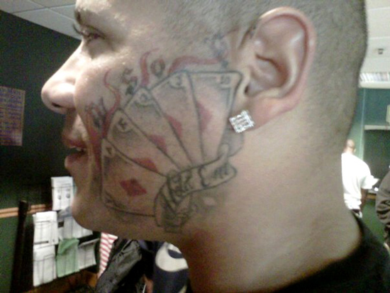 worst face tattoos wsop cards on full house