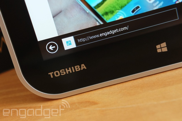 Toshiba Encore tablet close-up