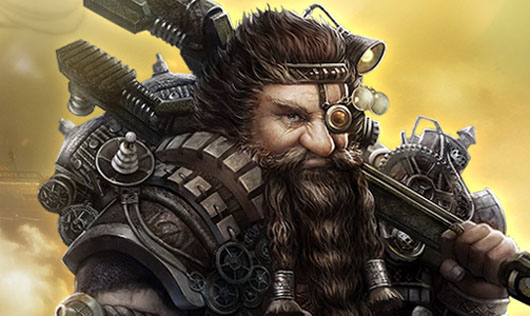 Black Gold steampunk dwarf