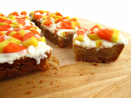 Candy Corn Shortbread Bars