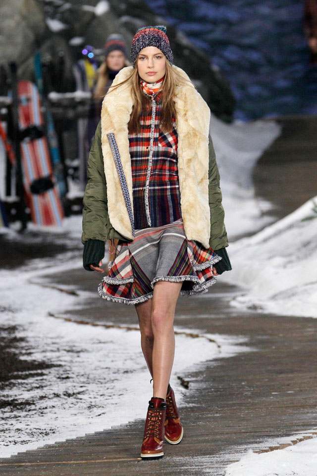 NEW YORK, NY - FEBRUARY 10:  A model walks the runway at Tommy Hilfiger Presents Fall 2014 Women's Collection at Park Avenue Armory on February 10, 2014 in New York City.  (Photo by Randy Brooke/Getty Images for Tommy Hilfiger)