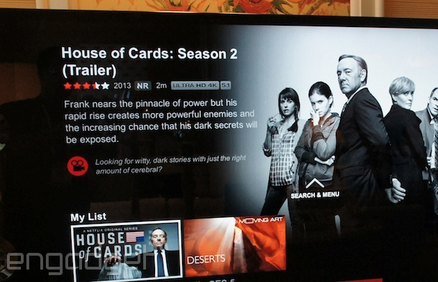Netflix begins 4K streaming with House of Cards, if you have the right TV