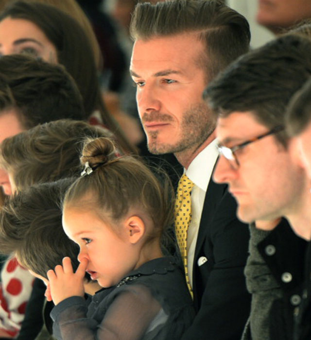 Harper Beckham picks her nose