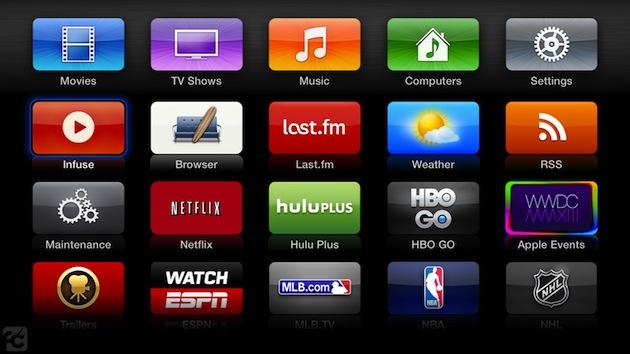 Untethered jailbreak for second gen Apple TVs updated, puts XBMC next to HBO Go