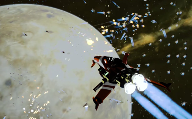 Screenshot of StarSwarm demo game