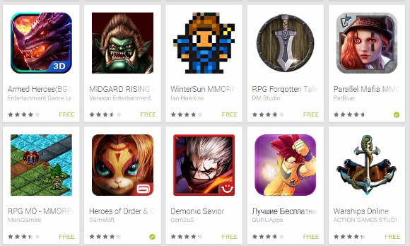 Google Play market screenshot