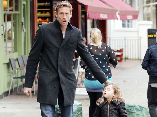 Peter Crouch and daughter Sophia