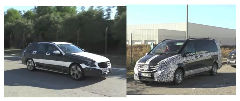 spyshot, erlkönig, video, Mercedes-Benz, V-Klasse, c-class, V-Class, c-Klasse, T-Modell, video
