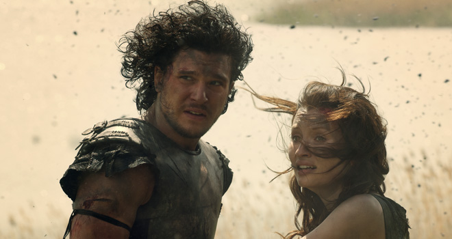 Kit Harington and Emily Browning in 'Pompeii'
