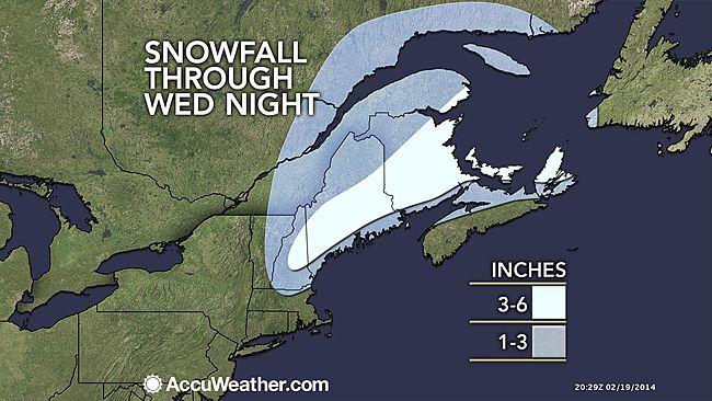 Snowfall Through Wednesday Night