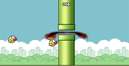 Squishy Bird in Flappy Bird Out