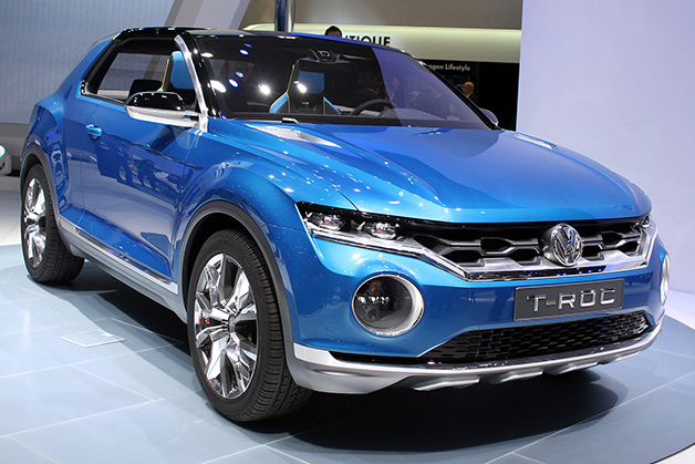 The Volkswagen T-Roc Concept at the 2014 Geneva Motor Show, front three-quarter