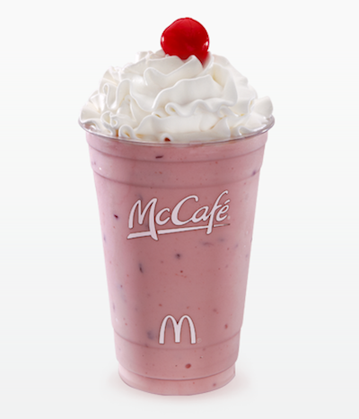 mcdonalds strawberry shake