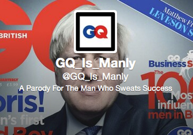 GQ Is Manly Parody Twitter account