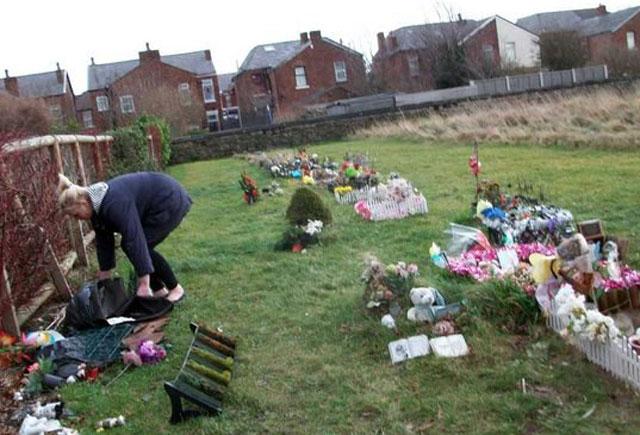Stillborn baby grave