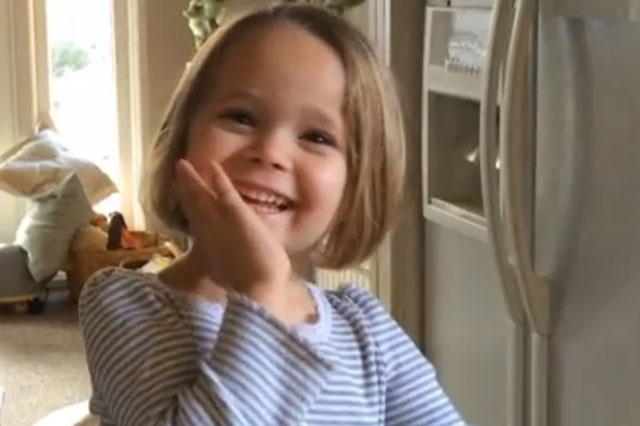 Adorable four-year-old learns to say spaghetti - cute video