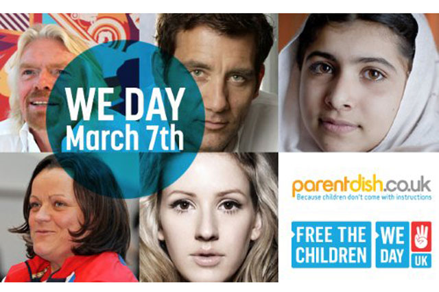 Free The Children launch We Day in the UK