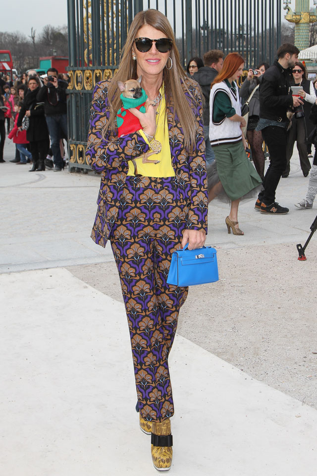 PARIS, FRANCE - MARCH 05:  Anna Dello Russo arrives to attend the 'Valentino' Fall/Winter 2013 Ready-to-Wear show as part of Paris Fashion Week on March 5, 2013 in Paris, France.  (Photo by Marc Piasecki/WireImage)