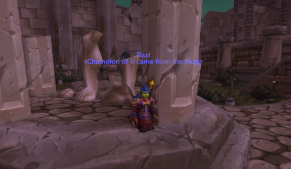 Tizzi in the Ruins of Lordaeron