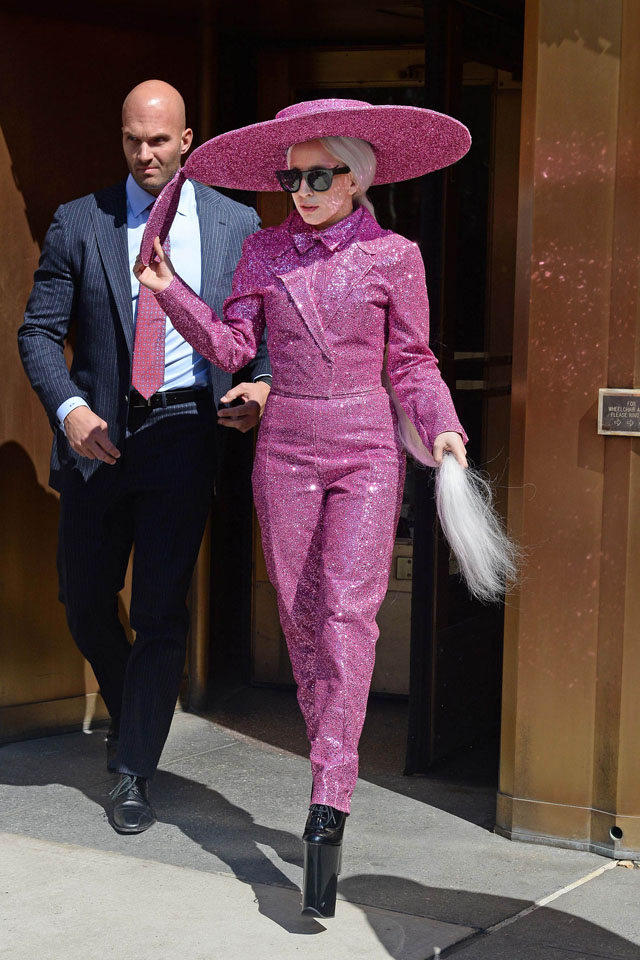 NEW YORK, NY - MARCH 24:  Singer Lady Gaga is seen on March 24, 2014 in New York City.  (Photo by NCP/Star Max/GC Images)