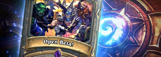 Hearthstone open beta announcement banner