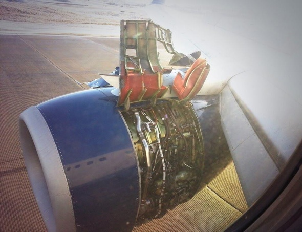 Delta plane engine casing rips off mid-air (terrifying photo)