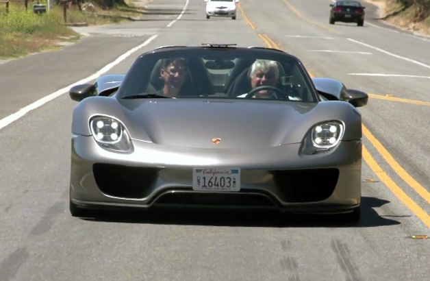 leno steals porsche 918 from the quail for latest garage. Black Bedroom Furniture Sets. Home Design Ideas