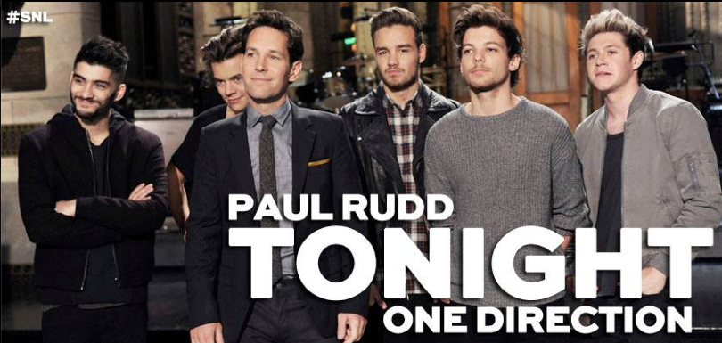 SNL One Direction Paul Rudd opening monologue video Afternoon Delight