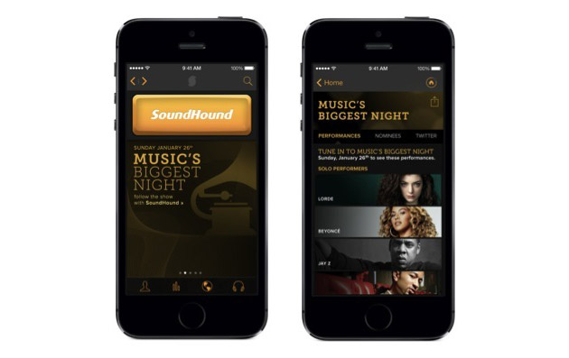 SoundHound's music search app turns its focus to the Grammys with real-time updates and more