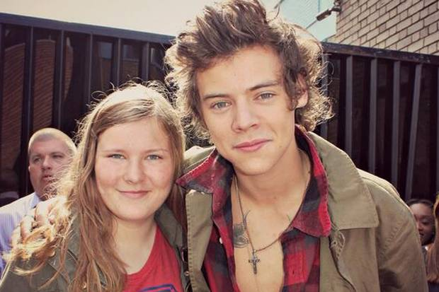 Harry Styles with Magda of 1D Crew RIP