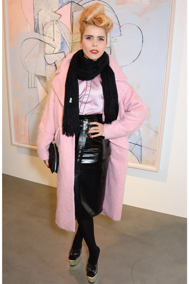 LONDON, ENGLAND - FEBRUARY 10:  Paloma Faith attends the opening reception at Simon Lee Gallery for an exhibition of new paintings by renowned American artist George Condo titled 'HEADSPACE' on February 10, 2014 in London, United Kingdom.  (Photo by David M. Benett/Getty Images for Simon Lee Gallery)