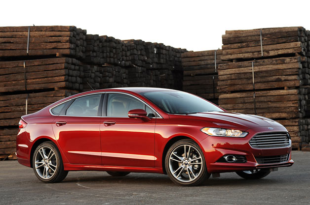 2013 Ford Fusion  - front three-quarter view