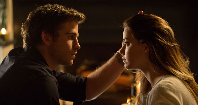 Liam Hemsworth and Amber Heard in 'Paranoia'