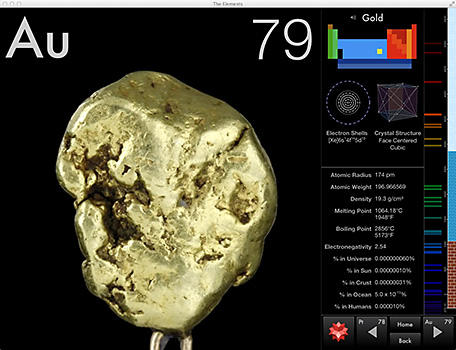 Touch Press The Elements Gold Page