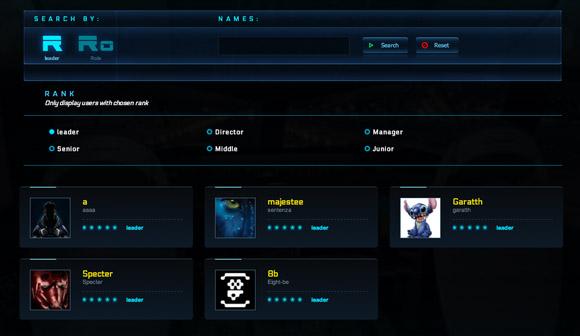 Star Citizen organization screen