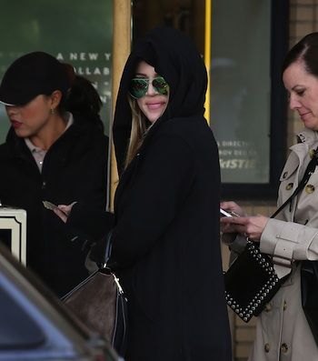 110610, LOS ANGELES, CALIFORNIA - Thursday December 19, 2013.  K Kardashianhian leaves Barneys after doing some holiday shopping in Los Angeles. Photograph: © Devone Byrd, PacificCoastNews **FUST BE AGE AGREED PRIOR TO USAGE** **E-TABLET/IPAD & MOBILE PHONE APP PUBLISHING REQUIRES ADDITIONAL FEES** LOS ANGELES OFFICE: +1 310 822 0419 LONDON OFFICE: +44 20 8090 4079