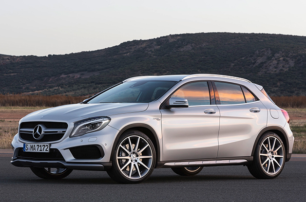 2015 Mercedes-Benz GLA45 AMG, front three-quarter view
