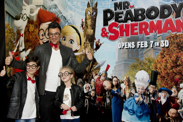 Peter Andre, Junior and Princess at the premiere of Mr Peabody and Sherman