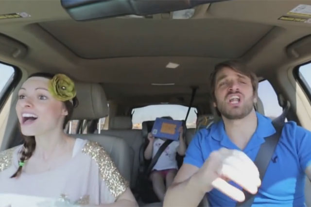 couple lipsync to Frozen soundtrack video