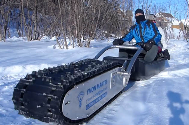 Mtt 136 Treaded Electric Sled Is Far More Awesome Than Its