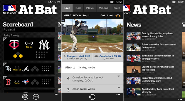 MLB at Bat for Windows Phone adds push notifications and pitch tracking