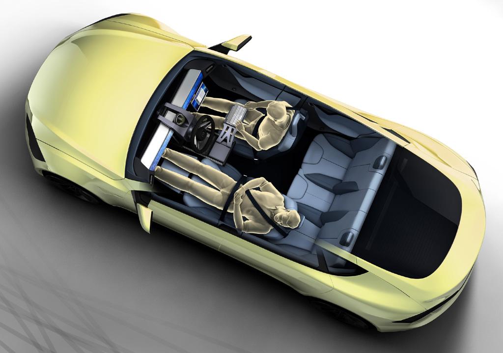 Rinspeed, Genfer Auto salon, Autosalon Genf 2014,  XchangE, Rinspeed XchangE, autonomes fahren, Fahrassistent, elektrisch