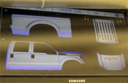 Ford 3D Dirt Detection Technology - video screencap