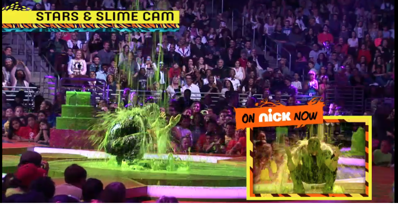 Mark Wahlberg slimed at 2014 Kids Choice Awards