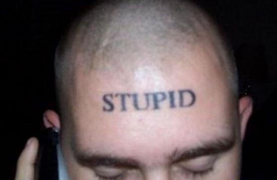 worst face tattoos stupid