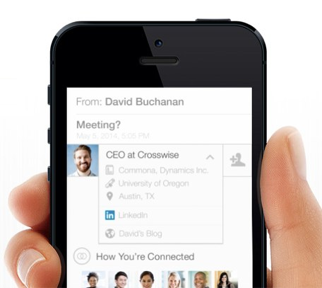 Screenshot of LinkedIn Intro