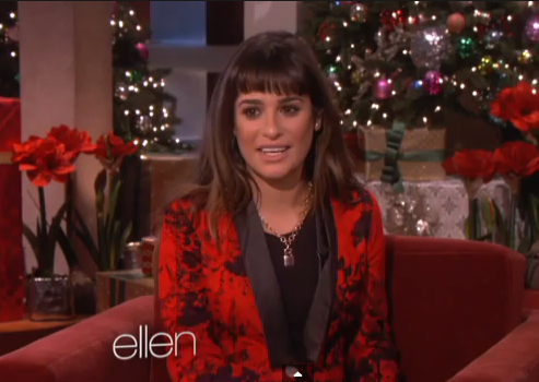 Lea Michele on Ellen Degeneres