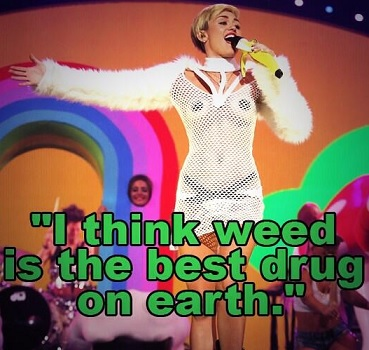 Miley Cyrus smoking weed